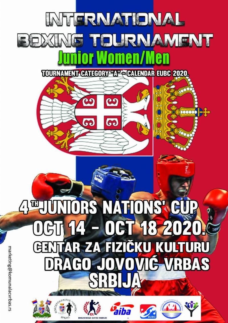 Врбас домаћин Купа нација у боксу за јуниорке и јуниоре