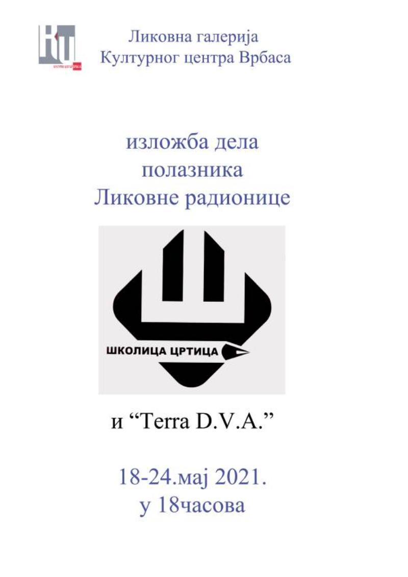 """Отварање изложбе дела Полазника Ликовних радионица """"Школица - Цртица"""" и """"Tera d.v.a."""""""