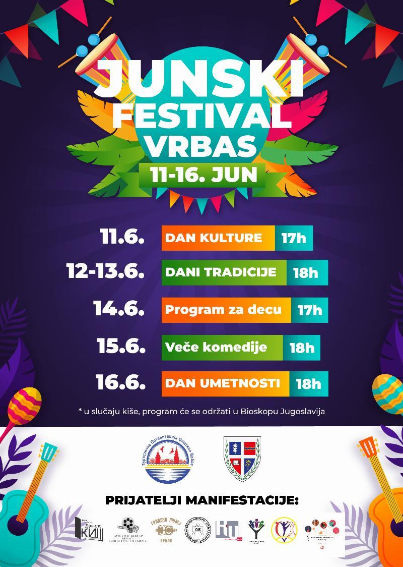 Јунски фестивал од 11. до 16. јуна
